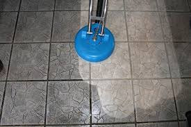 M and J Premiere Carpet and Tile Cleaning cleans tile floors.